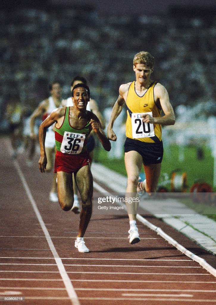 Jarrow athlete Steve Cram edges Saïd Aouita of Morocco to set a new world record for the 1500 metres in a time of 3 minutes 2967 seconds Cram was the...