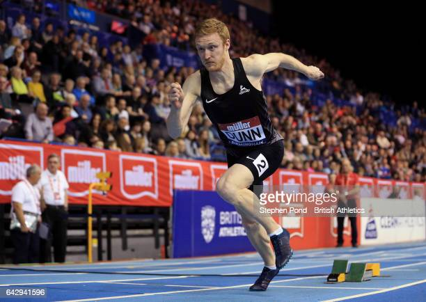 Jarryd Dunn of Great Britain competes in the mens 400m during the Muller Indoor Grand Prix 2017 at the Barclaycard Arena on February 18 2017 in...