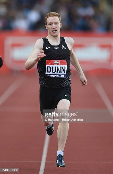 Jarryd Dunn of Great Britain competes in the men's 400m semi final on day two of the British Championships Birmingham at Alexander Stadium on June 25...