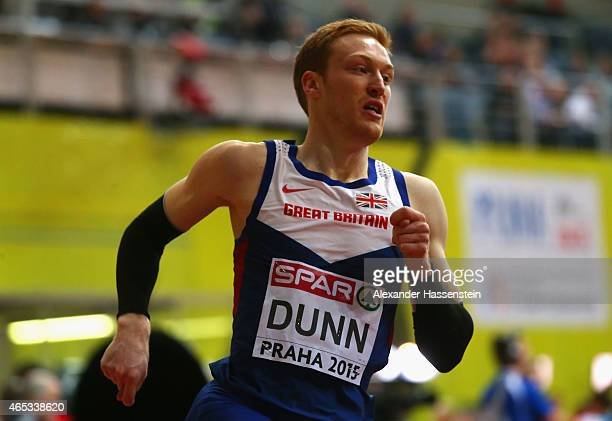 Jarryd Dunn of Great Britain Northern Ireland competes in the Men's 400 metres rounds during day one of the 2015 European Athletics Indoor...
