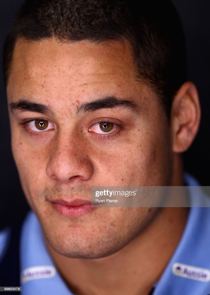 Jarryd Hayne of the NSW Blues poses during the NSW Blues Media Call and team photo session at ANZ Stadium on May 18, 2010 in Sydney, Australia.