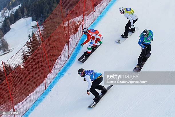 Jarryd Hughes of Australia competes during the FIS Snowboard World Championships Men's and Women's Snowboardcross on January 16 2015 in Kreischberg...