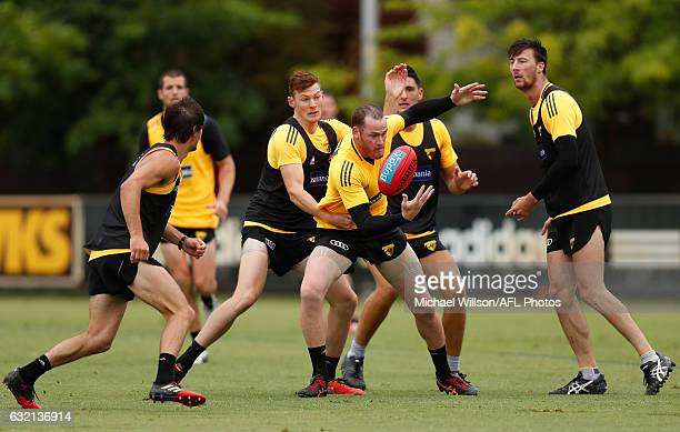 Jarryd Roughead of the Hawks in action during a Hawthorn Hawks AFL press conference and training session at Waverley Park on January 20 2017 in...
