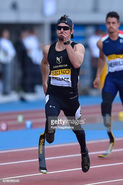 Jarryd Wallace of Japan ccompetes in the Men's 100m T44/47 during the SEIKO Golden Grand Prix 2016 at Todoroki Stadium on May 8 2016 in Kawasaki Japan