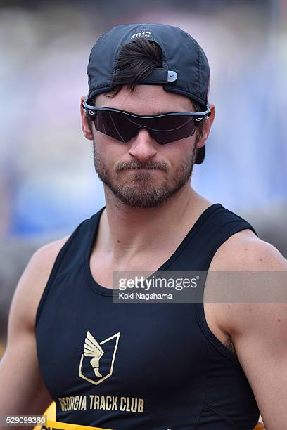 Jarryd Wallace of Japan looks on after winning the Men's 100m T44/47 during the SEIKO Golden Grand Prix 2016 at Todoroki Stadium on May 8 2016 in...