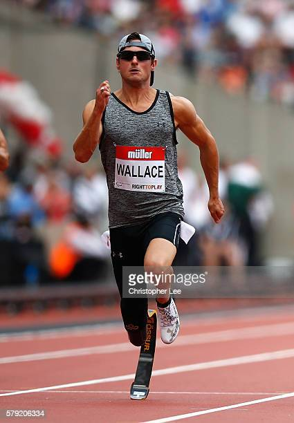 Jarryd Wallace of USA in action in the Mens 100m T43/44 during Day Two of the Muller Anniversary Games at The Stadium Queen Elizabeth Olympic Park on...