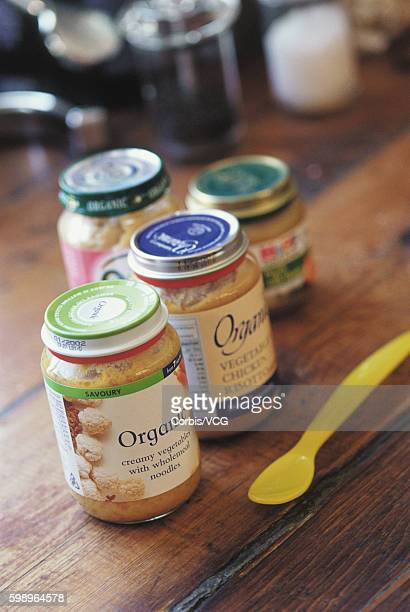 Jars of Organic Baby Food