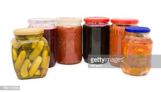 jars of preserves : Stock Photo
