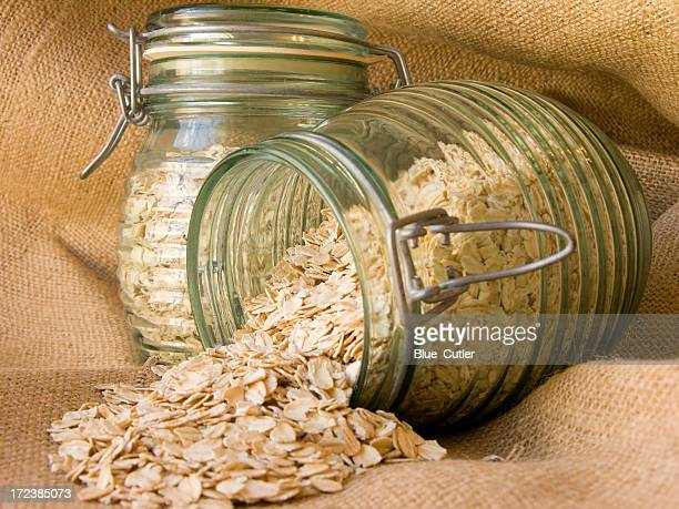Jars with oats