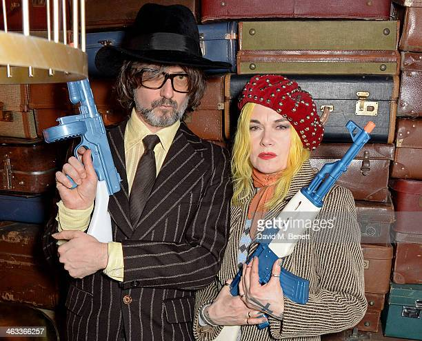 Jarvis Cocker and Pam Hogg attend Ellen Von Unwerth's 60th birthday party supported by Ciroc at Steam Rye on January 17 2014 in London England