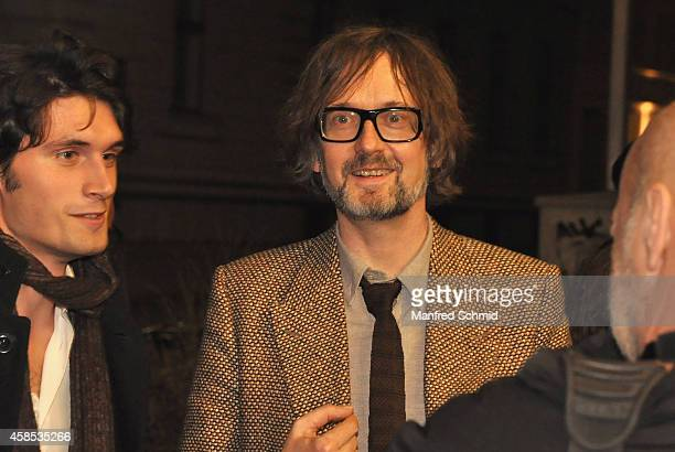 Jarvis Cocker arrives at a special screening of the film 'Pulp A Film About Life Death and Supermarkets' during the Viennale at Stadtkino im...