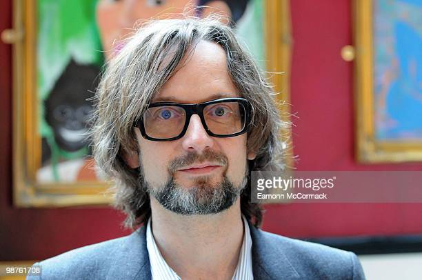 Jarvis Cocker attends the photocall launching the new partnership between Museums and Galleries in London Paris and Brussels at St Pancras Station on...
