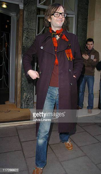 Jarvis Cocker during Celebrity Sightings at Claridges Hotel February 15 2007 at Claridges Hotel in London Great Britain