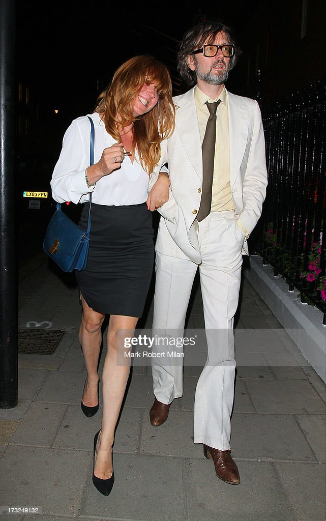 Jarvis Cocker leaving Claridges hotel on July 10, 2013 in London, England.