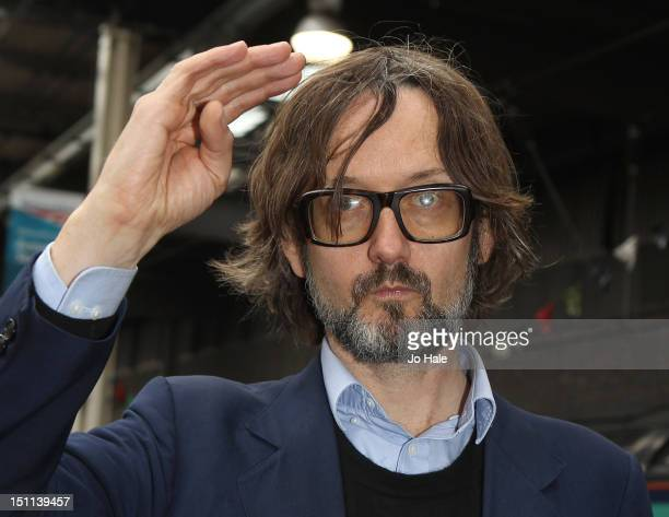 Jarvis Cocker poses for a photo call marking the train departure of Damon Albarn's UK Tour of 'The Africa Express' at on September 2 2012 in London...