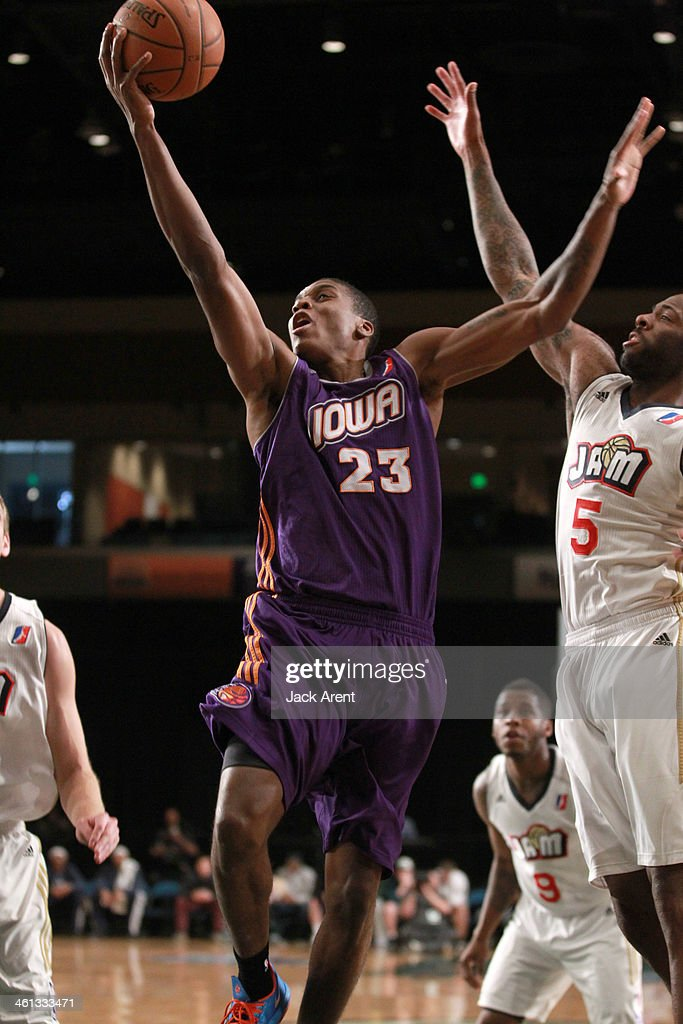 Jarvis Varnado of the Iowa Energy shoots the ball against the Bakersfield Jam during the 2014 NBA DLeague Showcase presented by Samsung Galaxy on...