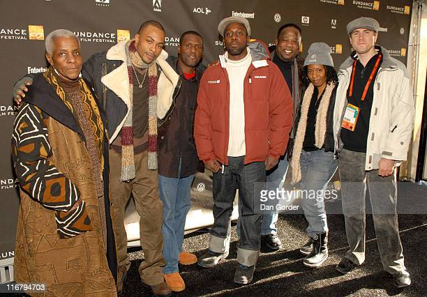 Jas Anderson Curtiss Cook Be' Garrett director of 'A Nick in Time' Isiah Whitlock Jr Mark Webber and guests
