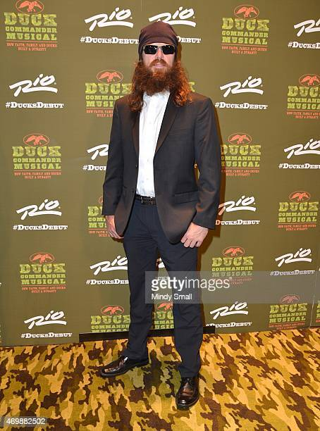 Jase Robertson arrives at the 'Duck Commander Musical' opening night at the Rio Hotel Casino on April 15 2015 in Las Vegas Nevada