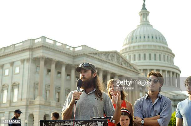 Jase Robertson from the 'Duck Dynasty' television show speaks during a press conference to Raise Awareness For Cleft Palate And Lip Treatment at US...