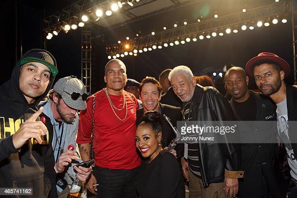 Jasiri X Ben Taylor Paxton Baker Janell Snowden Dave Koz Bill Withers Darrin Henson and Eric Benét attend the Centric Celebrates Selma event on March...