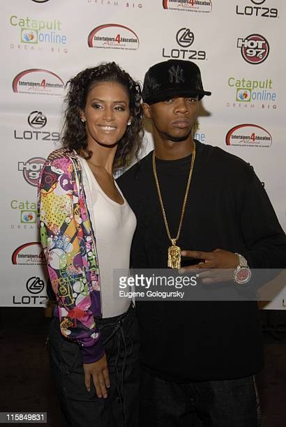 Jaslene Gonzalez and Papoose at The 2nd Annual Entertainers 4 Education Alliance 'Stay In School' Event Arrivals on October 17 2007 in New York