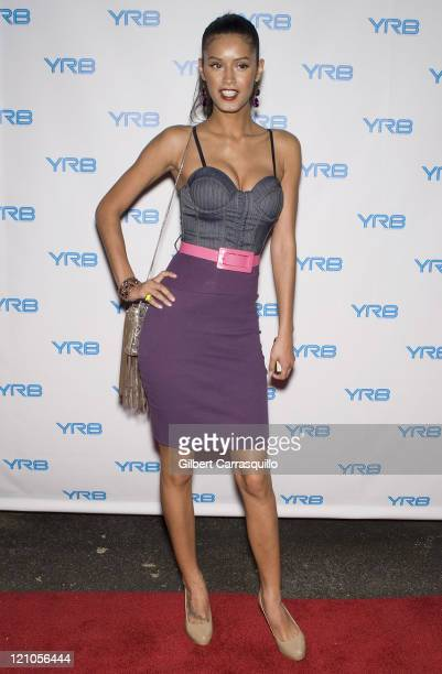 Jaslene Gonzalez attends the 'How You Rock It' live fashion shoot hosted by YRB magazine at The Red Bull Space on June 25 2008 in New York City