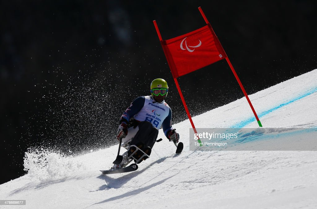 Jasmin Bambur of the United States competes in the Men's Giant Slalom Sitting during day eight of the Sochi 2014 Paralympic Winter Games at Rosa Khutor Alpine Center on March 15, 2014 in Sochi, Russia.