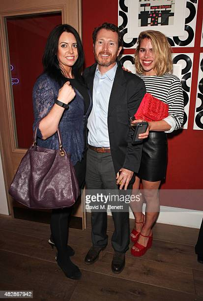 Jasmin Duran Nick Moran and Billie Piper attend an after party following the press night performance of 'Dear Lupin' at the Ham Yard Hotel on August...