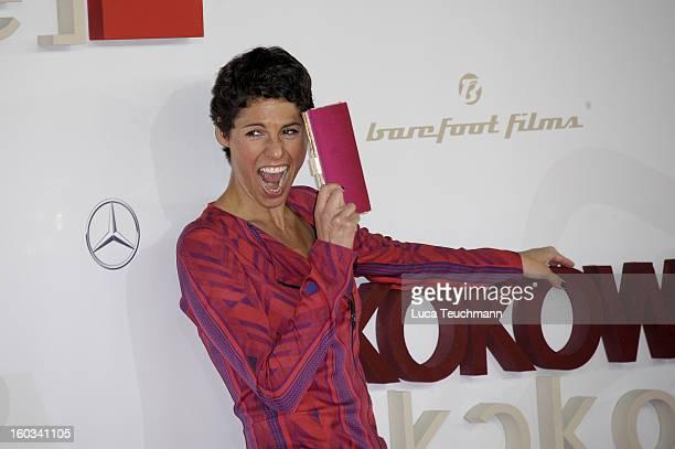 Jasmin Gerat attends 'Kokowaeaeh 2' Germany Premiere at Cinestar Potsdamer Platz on January 29 2013 in Berlin Germany