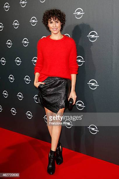 Jasmin Gerat attends the 'Corsa Karl Und Choupette' Vernissage on February 03 2015 in Berlin Germany