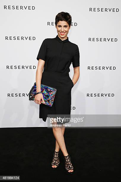 Jasmin Gerat attends the Reserved Let's Fashion Party at the MercedesBenz Fashion Week Spring/Summer 2015 at Alte Muenze on July 10 2014 in Berlin...