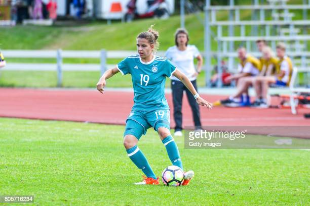 Jasmin Jabbes of Germany during the Nordic Cup 2017 match between U16 Girl's Germany and U16 Girl's Norway on July 2 2017 in Kempele Finland