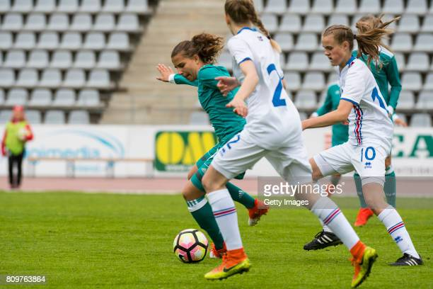 Jasmin Jabbes of Germany during the Nordic Cup 2017 match between U16 Girl's Germany and U16 Girl's Iceland on July 6 2017 in Oulu Finland