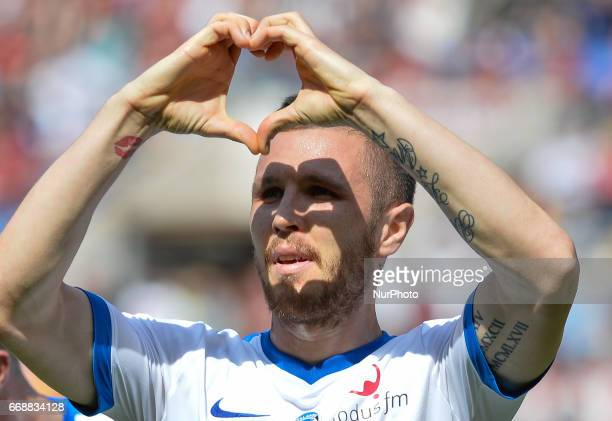 Jasmin Kurtic celebrates after scoring goal 10 during the Italian Serie A football match between AS Roma and AC Atalanta at the Olympic Stadium in...