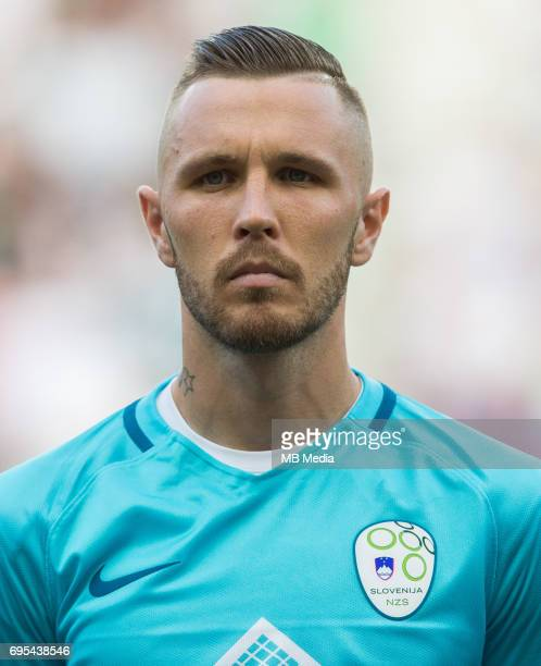 Jasmin Kurtic of Slovenia during football match between National teams of Slovenia and Malta in Round of FIFA World Cup Russia 2018 qualifications in...