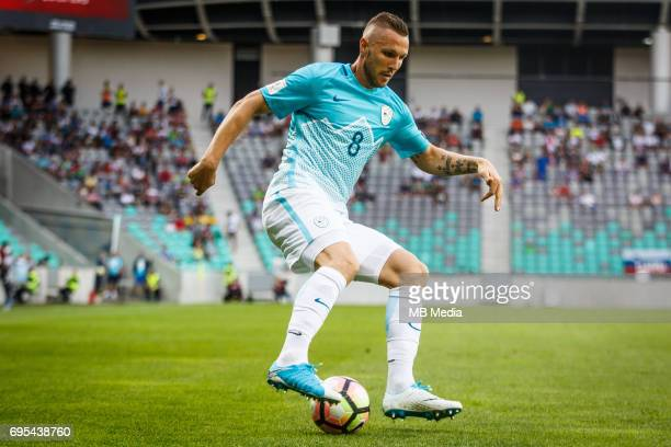 Jasmin Kurtic of Slovenia in action during football match between National teams of Slovenia and Malta in Round of FIFA World Cup Russia 2018...