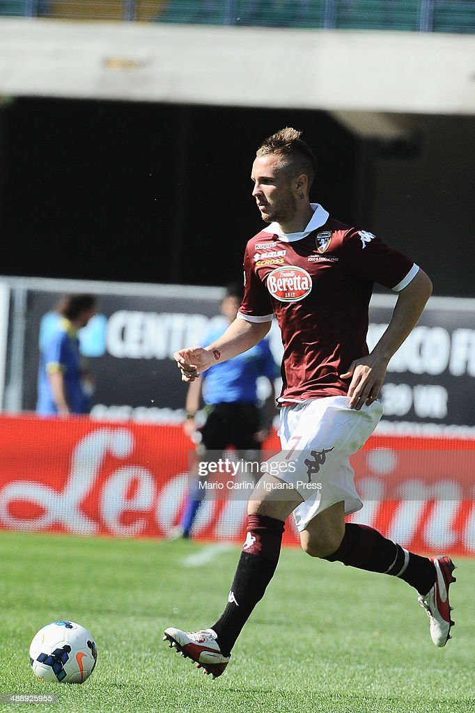 <a gi-track='captionPersonalityLinkClicked' href=/galleries/search?phrase=Jasmin+Kurtic&family=editorial&specificpeople=7418994 ng-click='$event.stopPropagation()'>Jasmin Kurtic</a> # 27 of Torino FC in action during the Serie A match between AC Chievo Verona and Torino FC at Stadio Marc'Antonio Bentegodi on May 4, 2014 in Verona, Italy.