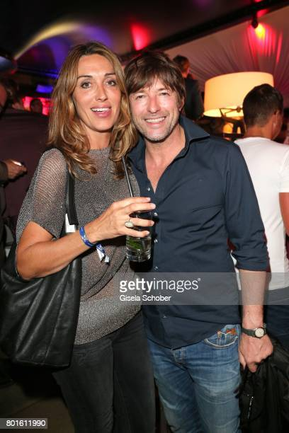 MUNICH GERMANY JUNE 26 Jasmin Linhart and Bruno Eyron during the Movie meets Media Party during the Munich Film Festival on June 26 2017 in Munich...