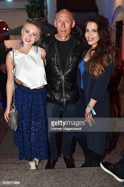 Jasmin Lord Detlef Bothe and Jeanne Goursaud during the Bavaria Film reception during the Munich Film Festival 2016 at Kuenstlerhaus am Lenbachplatz...