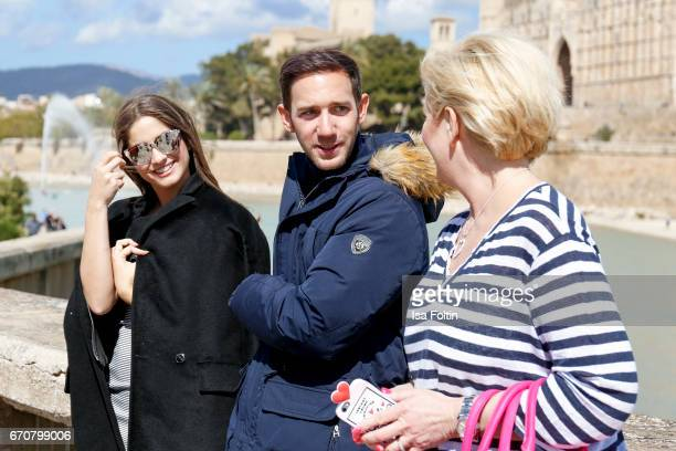 Jasmin Raziorrouh Marcel Remus and Claudia Effenberg behind the scenes at the Photoshooting with Lucia Strunz for Marcel Remus shoe collection on...