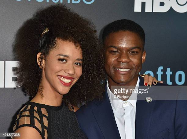 Jasmin Savoy Brown and Jovan Adepo attend the Season 2 premeire of HBO's 'The Leftovers' during the ATX Television festival at the Paramount Theatre...