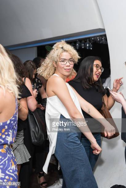 Jasmin Savoy Brown attends MAC Celebrates the Winner of the CFDA/Vogue Fashion Fund Capsule Collection CHROMAT at Maru Karaoke Lounge on June 27 2017...