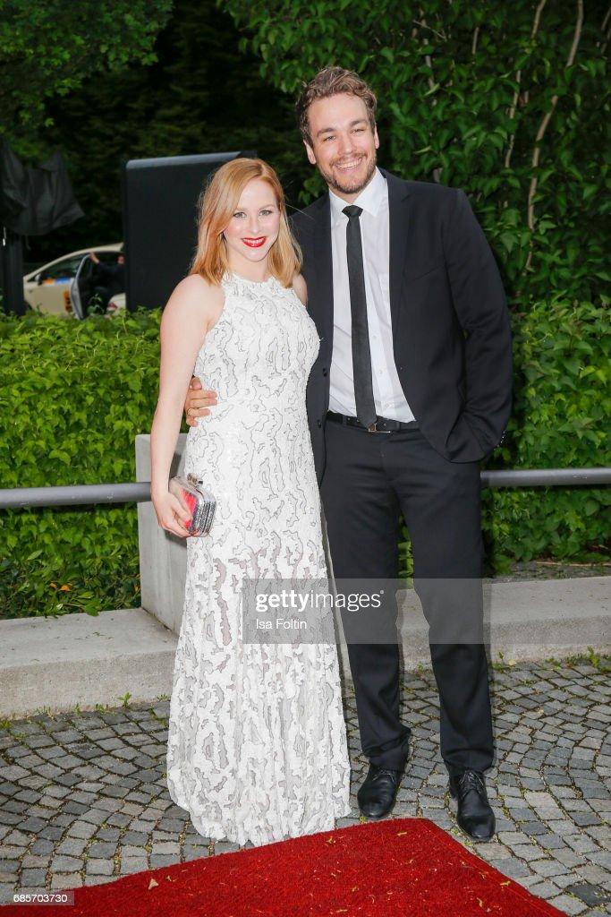 Jasmin Schwiers and her husband Jan van der Weyde attend the Bayerischer Fernsehpreis 2017 at Prinzregententheater on May 19, 2017 in Munich, Germany.