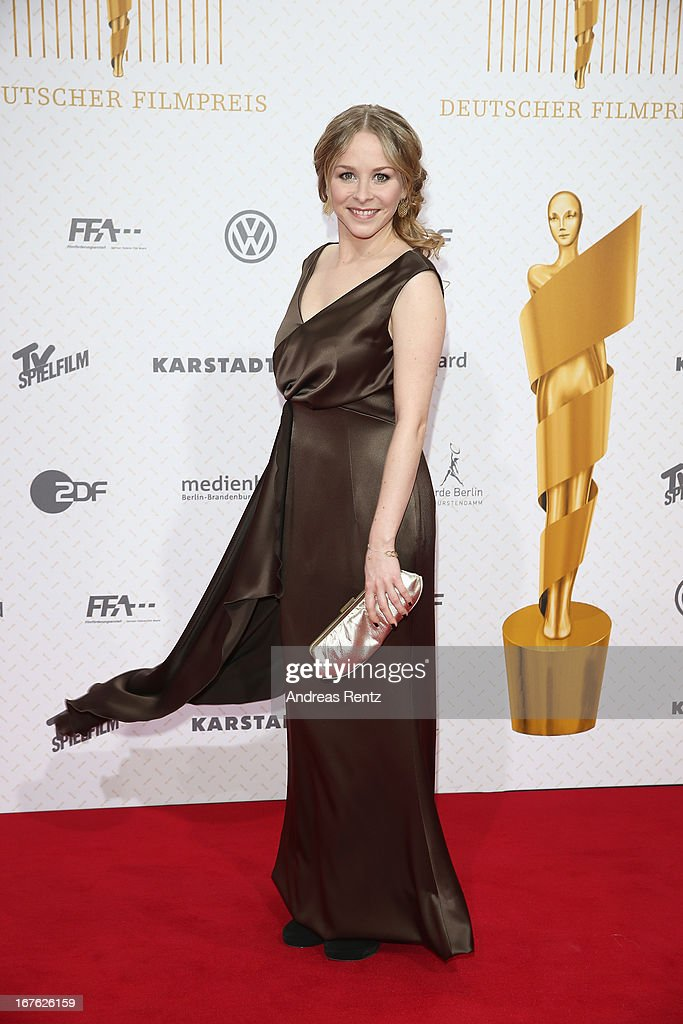 Jasmin Schwiers arrives for the Lola - German Film Award 2013 at Friedrichstadt-Palast on April 26, 2013 in Berlin, Germany.