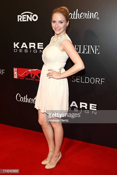 Jasmin Schwiers attends KARE Design at the New Faces Award Fashion 2013 at Rheinterrasse on July 22 2013 in Duesseldorf Germany