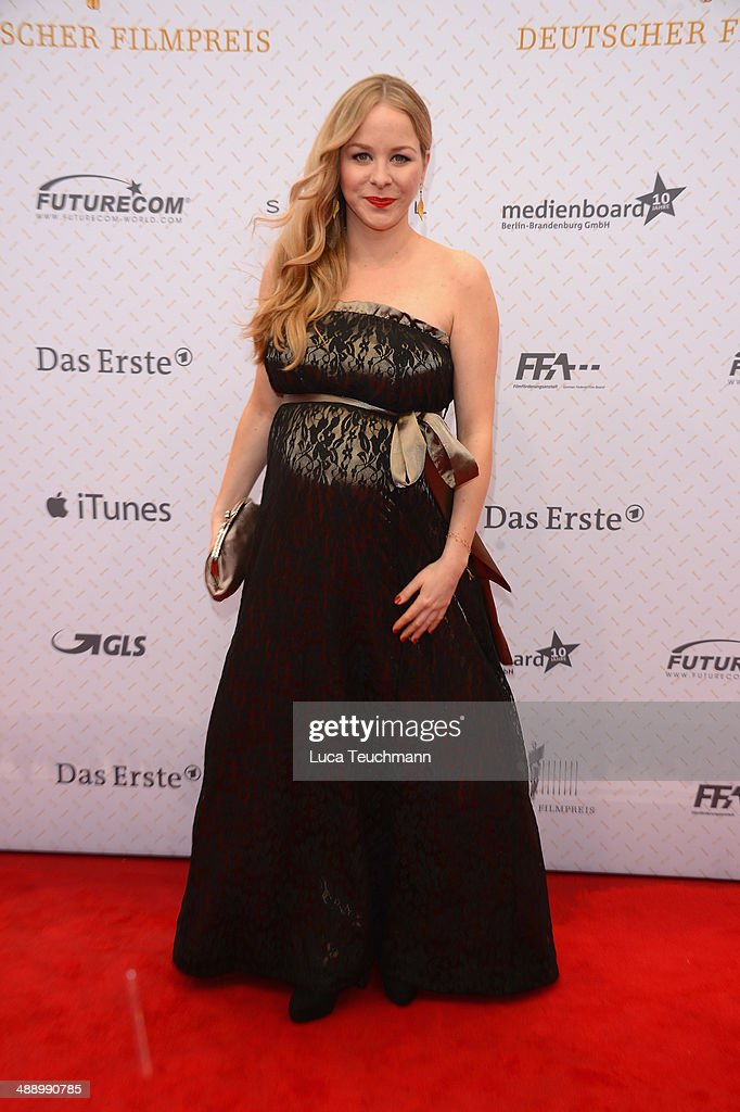 Jasmin Schwiers attends the Lola - German Film Award 2014 at Tempodrom on May 9, 2014 in Berlin, Germany.