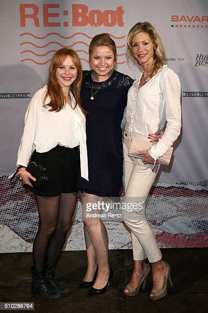 Jasmin Schwiers Caroline Frier and Nina Gnaedig attend the Bavaria Film Party REBOOT on February 14 2016 in Berlin Germany