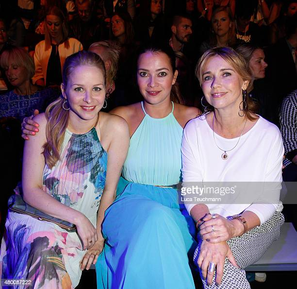 Jasmin Schwiers Laura Osswald and Tina Ruland attend the 'Designer for Tomorrow' by Peek Cloppenburg and Fashion ID show during the MercedesBenz...