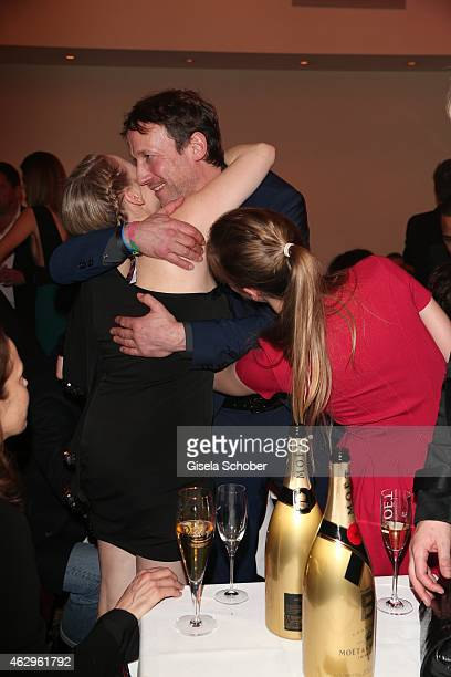 Jasmin Schwiers Wotan Wilke Moehring during the Bild 'Place to B' Party at Borchardt Restaurant on February 7 2015 in Berlin Germany