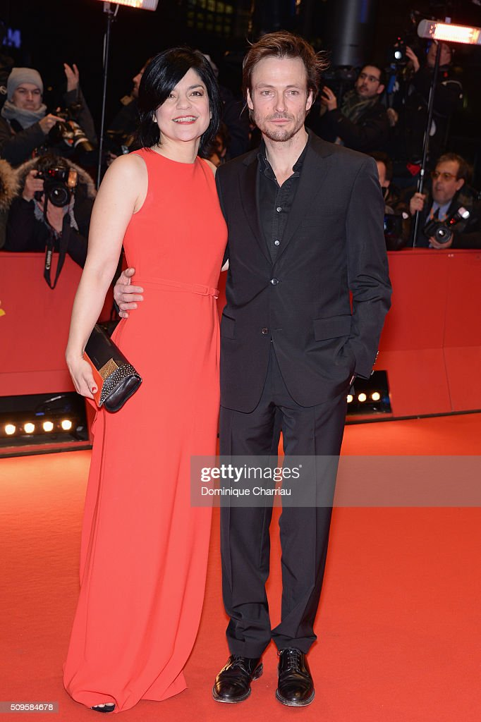 Jasmin Tabatabai and Andreas Pietschmann attend the 'Hail, Caesar!' premiere during the 66th Berlinale International Film Festival Berlin at Berlinale Palace on February 11, 2016 in Berlin, Germany.